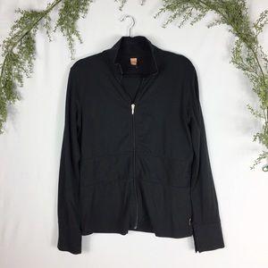 Lucy Lux Black Long Sleeve Zip Sweatshirt M